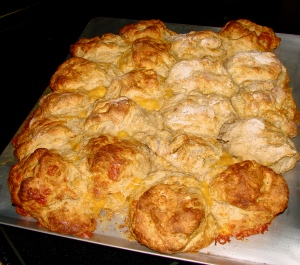 Fresh Soaked biscuits fresh out of the oven with golden brown, crunchy tops