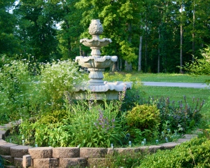 Herb Garden with Fountain in the middle