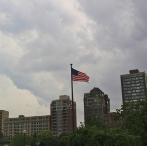 Flag over Chicago