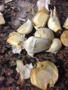 Whapped garlic cloves Prior to Peeling